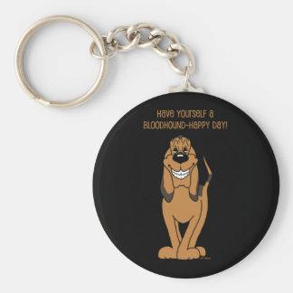 Bloodhound Smile Basic Round Button Keychain