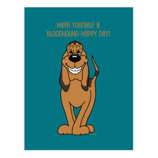 Bloodhound Smile Postcard