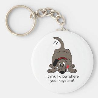 Bloodhound, Sort Of Basic Round Button Keychain