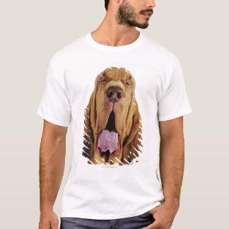 Bloodhound (St. Hubert Hound) with closed eyes, T-Shirt