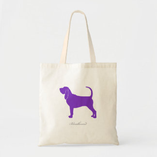 Bloodhound Tote Bag (purple silhouette)