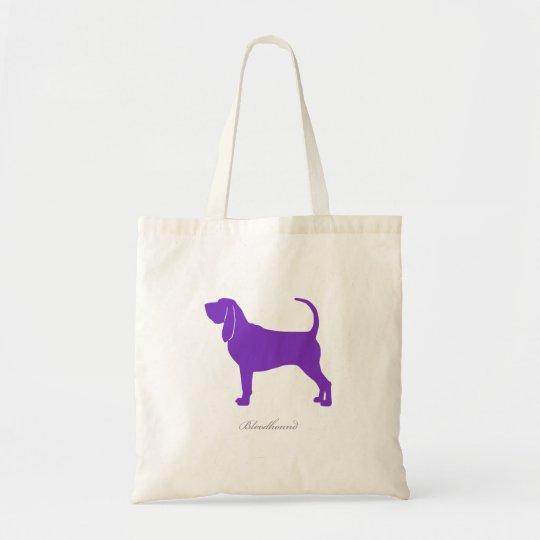 Bloodhound Tote Bag (purple silhouette)
