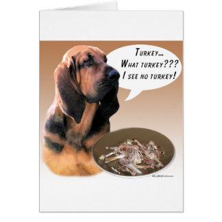 Bloodhound Turkey Card