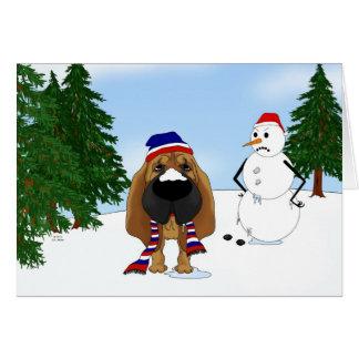 Bloodhound Winter Scene Card