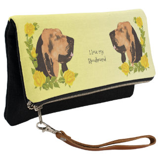 Bloodhound with Yellow Roses Clutch