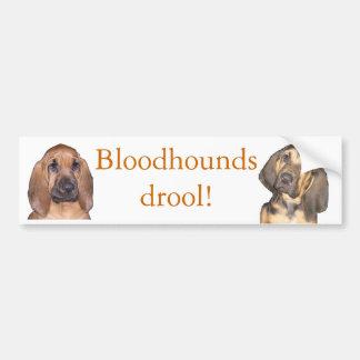 Bloodhounds drool! bumper sticker