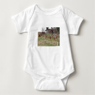 bloodhounds working baby bodysuit