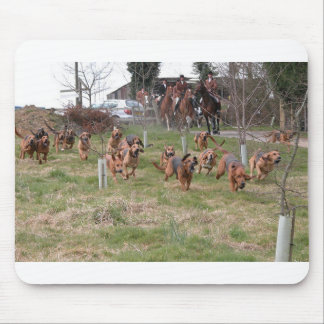 bloodhounds working mouse pad