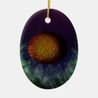 bloodmoon ceramic ornament