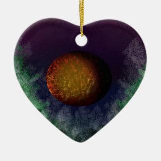 bloodmoon ceramic ornament