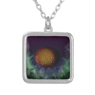 bloodmoon silver plated necklace