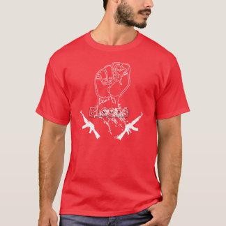 Bloods fist guns shirt