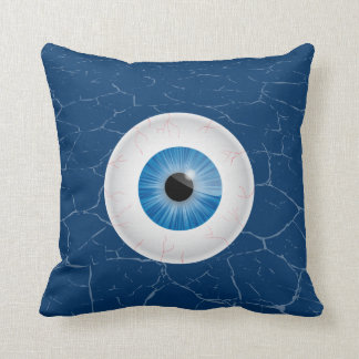 Bloodshot Blue Eyeball Pillows