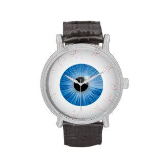 Bloodshot Blue Eyeball Wristwatch