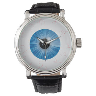 Bloodshot Blue Eyeball Watch