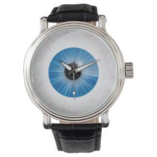 Bloodshot Blue Eyeball Wristwatches