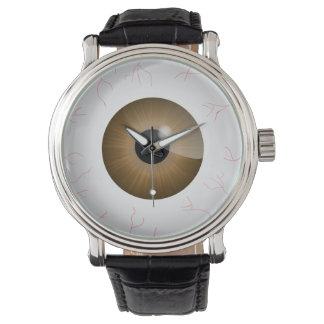 Bloodshot Brown Eyeball Wristwatches