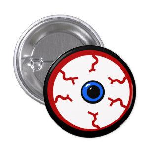 Bloodshot Eyeball 1 Inch Round Button