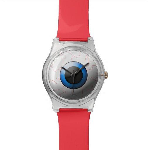 Bloodshot Eyeball Creepy Halloween Wrist Watch