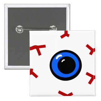 Bloodshot Eyeball (square) 2 Inch Square Button