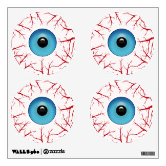 Bloodshot Eyeballs Halloween Creepy Wall Decal