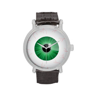 Bloodshot Green Eyeball Wrist Watch