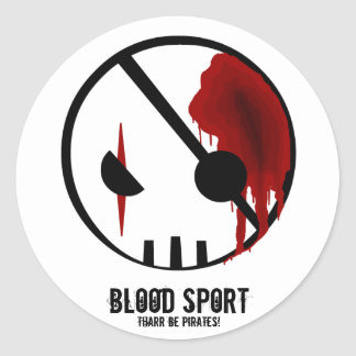 BloodSport: Pirates! Classic Round Sticker