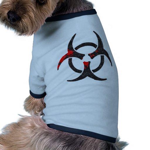 Bloody Biohazard Symbol Doggie Tshirt