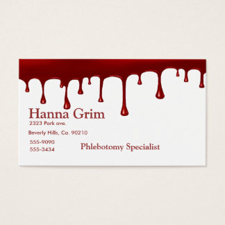 Bloody Blood Drip Business Card