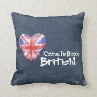 Bloody British Throw Pillow