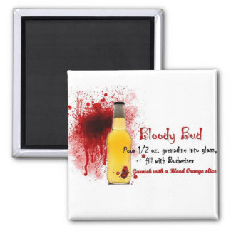 Bloody Bud Drink Recipe Magnet