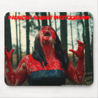 Bloody Girl Paducah August Photography Mouse Pad