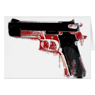Bloody Gun Greeting Card