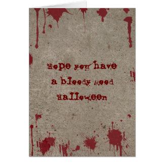 Bloody Halloween Card