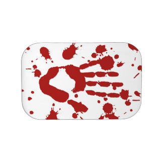 Bloody Hand Print Blood Splatter Halloween Props Lunch Boxes