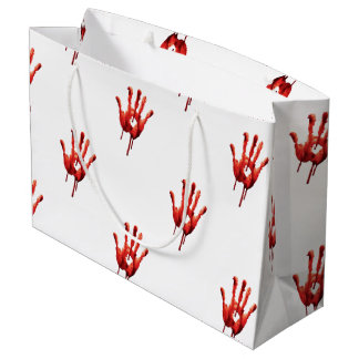 Bloody Hand Print Large Gift Bag