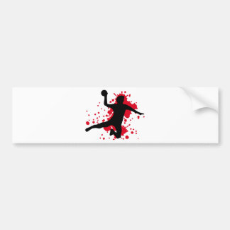 bloody handball dodgeball bumper sticker