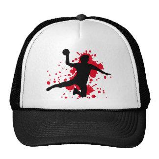 bloody handball dodgeball trucker hat