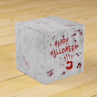 Bloody Handprint Halloween - Classic Favor Box