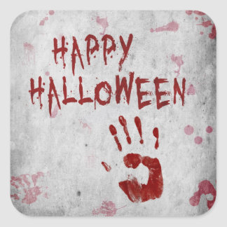 Bloody Handprint Halloween - Sticker