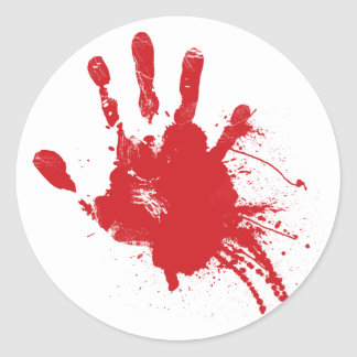 Bloody Handprint Sticker