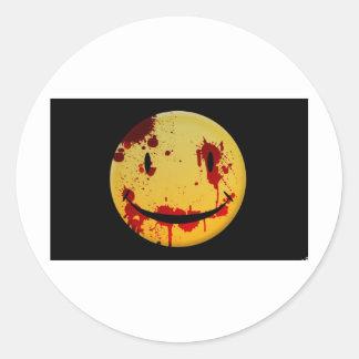 Bloody happy classic round sticker