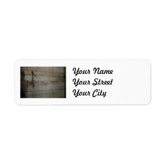 Bloody Happy Halloween Greeting Return Address Label