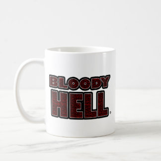 Bloody Hell Black Worded Mugs