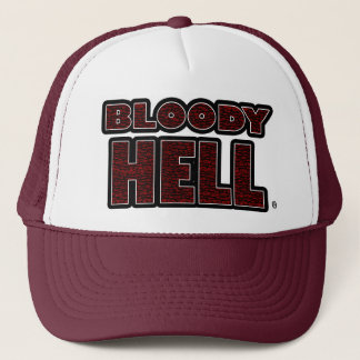 Bloody Hell Red Worded Trucker Hat