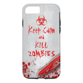 Bloody Knife Keep Calm & Kill Zombies Funny iPhone 7 Case