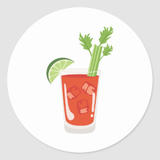 Bloody Mary Cocktail Classic Round Sticker