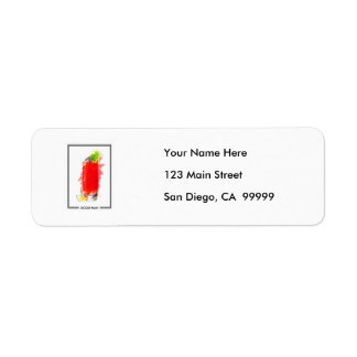 Bloody Mary Cocktail Marker Sketch Return Address Label