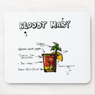Bloody Mary Cocktail Recipe Mouse Pad