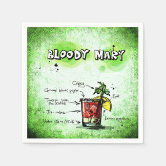 Bloody Mary Drink Recipe Disposable Napkin